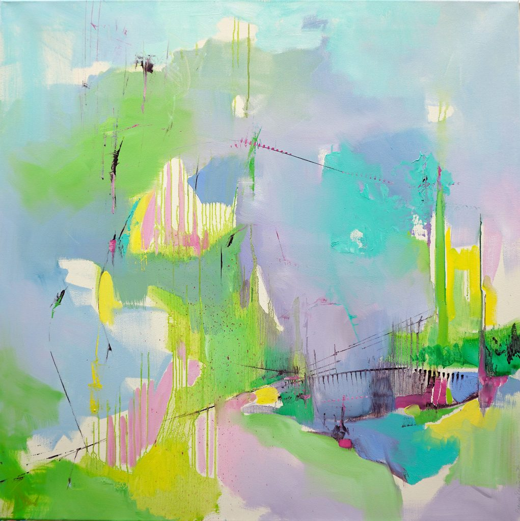 Oil on linen abstract painting by Larissa Eremeeva from the series Diary of Wishful Tendencies