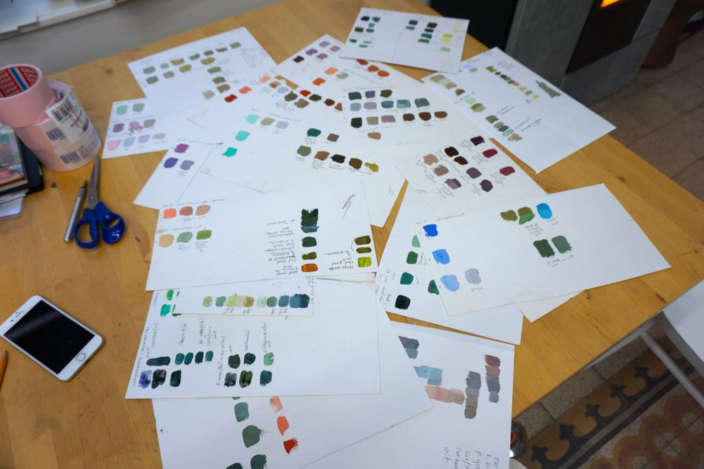 Choosing colour combinations is a key part of the art creation process