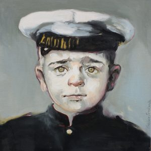 Portrait head and shoulders of a young naval cadet