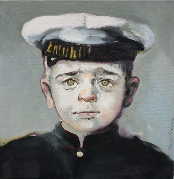 Portrait of a young uniformed cadet by Larissa Eremeeva from the collection Casual Thinking of the Metrical Mind