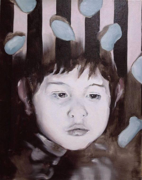 Artist Larissa Eremeeva's oil painting of an introspective young person explores our anxieties and emotions