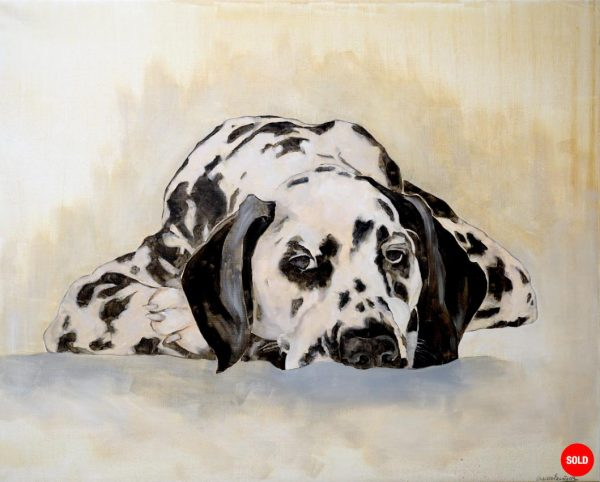 Painting of a Dalmatian dog from the collection Keepers by Larissa Eremeeva