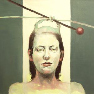 Portrait of a woman with knotted hair by Larissa Eremeeva from the collection Casual Thinking of the Metrical Mind