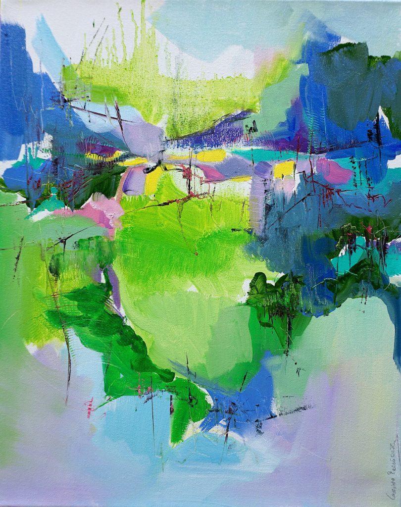 Oil on canvas abstract painting by Larissa Eremeeva from the series Diary of Wishful Tendencies