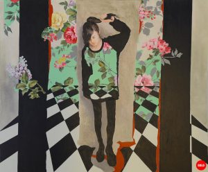 Artist Larissa Eremeeva's oil painting of an introspective young girl explores our anxieties and emotions