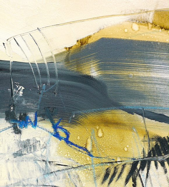 Detail of abstract expressionist painting Retrospection