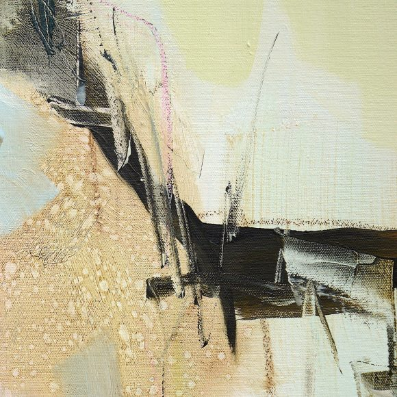Detail view of abstract expressionist painting Everywhere And Nowhere